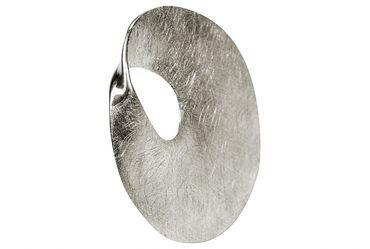 SILBERMOOS Anhänger runde Scheibe Kreis offen matt Sterling Silber 925 / Kette optional – Bild 3