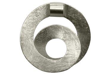 SILBERMOOS Anhänger Spirale Loop offen Kreis gebürstet Sterling Silber 925 / Kette optional – Bild 3