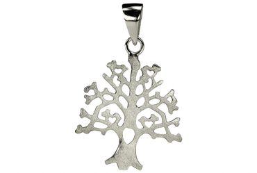 SILBERMOOS Anhänger Lebensbaum Baum des Lebens Natur Ast gebürstet 925 Sterling Silber – Bild 3
