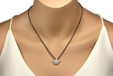 SILBERMOOS Anhänger Seestern mit Süßwasser-Perle gepunktet matt 925 Sterling Silber / Kette optional – Bild 6