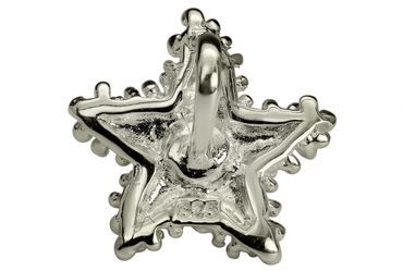 SILBERMOOS Anhänger Seestern mit Süßwasser-Perle gepunktet matt 925 Sterling Silber / Kette optional – Bild 4