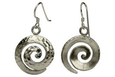 """Gehämmerte Ohrhänger """"Spirale"""" – Bild 3"""