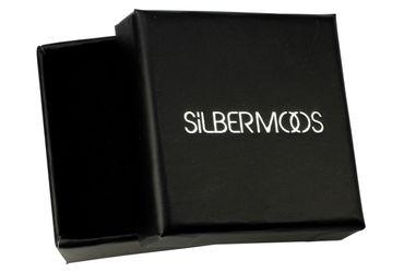 SILBERMOOS Damen Ohrschmuck Klappcreole quadratische Creolen matt Sterling Silber 925 Ohrringe – Bild 4