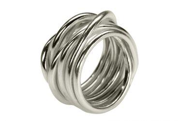 SILBERMOOS XL XXL Ringe in großen Größen Damenring Herrenring Partner Ring Ehering Wickelring Größe 62, 64, 66, 68, 70 Sterling Silber 925 – Bild 1