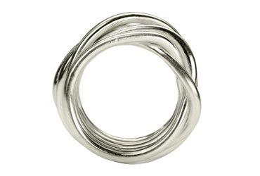 SILBERMOOS XL XXL Ringe in großen Größen Damenring Herrenring Partner Ring Ehering Wickelring Größe 62, 64, 66, 68, 70 Sterling Silber 925 – Bild 3