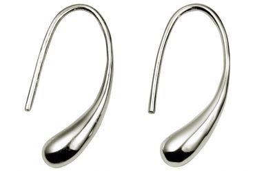SILBERMOOS Damen Ohrhänger Tropfen Drop elegant glänzend 925 Sterling Silber Ohrringe – Bild 1