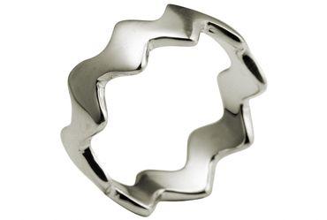 SILBERMOOS Damen Ring Zick-Zack-Ring glänzend 925 Sterling Silber – Bild 1