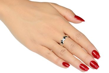 SILBERMOOS Damen Ring Zick-Zack-Ring glänzend 925 Sterling Silber – Bild 6