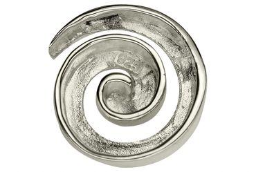 SILBERMOOS Anhänger mit Kette Spirale offen Kreis rund matt mit Schlangenkette 45 cm 925 Sterling Silber – Bild 5