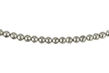 SILBERMOOS Damen Kugelkette massiv diamantiert formstabil 3 mm stark Qualitätskette aus Italien 925 Sterling Silber 45 50 cm – Bild 3