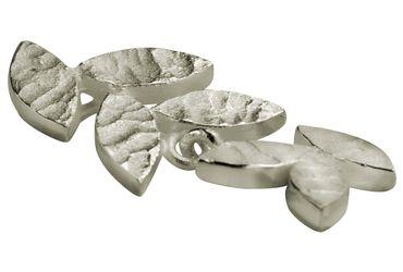 SILBERMOOS Damen Anhänger kleines Blatt filigran matt 925 Sterling Silber – Bild 3