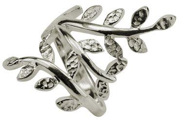 SILBERMOOS Damen Ring Motivring Blatt filigran 925 Sterling Silber – Bild 1