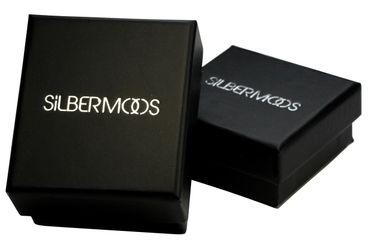SILBERMOOS Damen Creolen vergoldet Blumen Kleeblatt glänzend 925 Sterling Silber Ohrringe – Bild 5