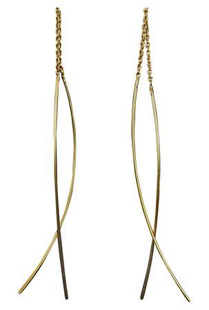 Moderne Ohrhänger zum Durchziehen vergoldet – Bild 1