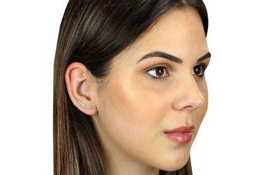 SILBERMOOS Damen Ohrklemmen mit kleinen Kugeln Earcuff modern im Trend zum Klemmen 925 Sterling Silber Ohrringe – Bild 2