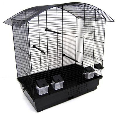 Vogelkäfig Käfig Wellensittich Kanarien Exoten schwarz