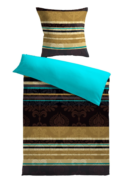 bettw sche braun t rkis m belideen. Black Bedroom Furniture Sets. Home Design Ideas