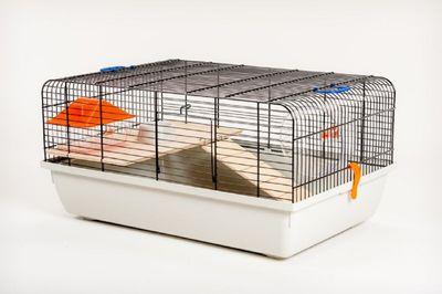 Mäusekäfig Hamsterkäfig Nagerkäfig 59 x 38 x 29 cm  mit Zubehör
