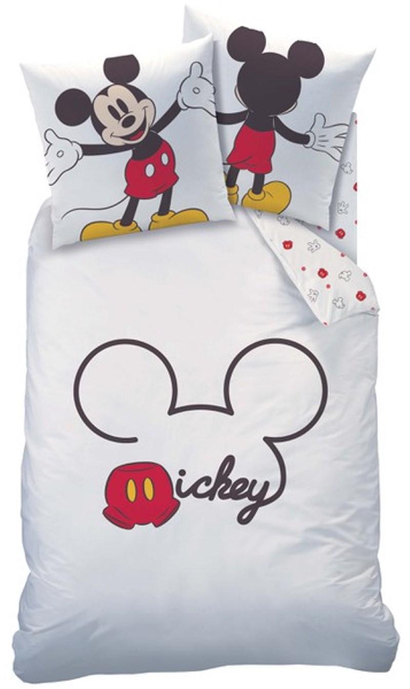 bettw sche mickey mouse wei rot 135 x 200 cm 80 x 80 cm ebay. Black Bedroom Furniture Sets. Home Design Ideas