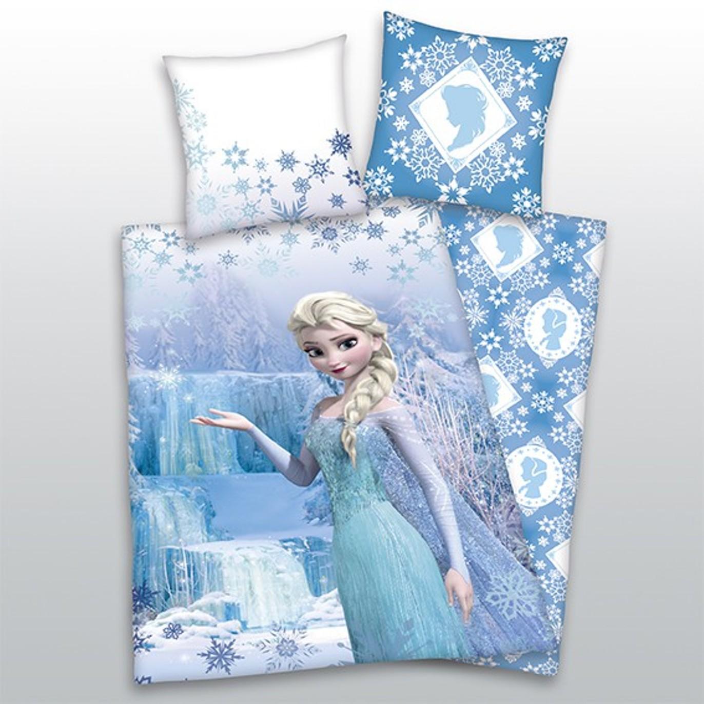 Frozen Elsa Bettwäsche Kissen 65x65cm Bettbezug 140x200cm Ceres
