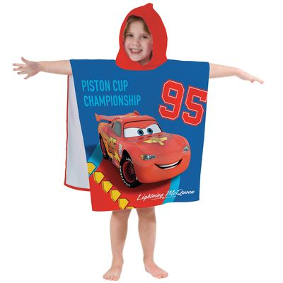 Disney Cars Badeponcho Kapuze Duschtuch Badetuch Strandtuch  60x120cm