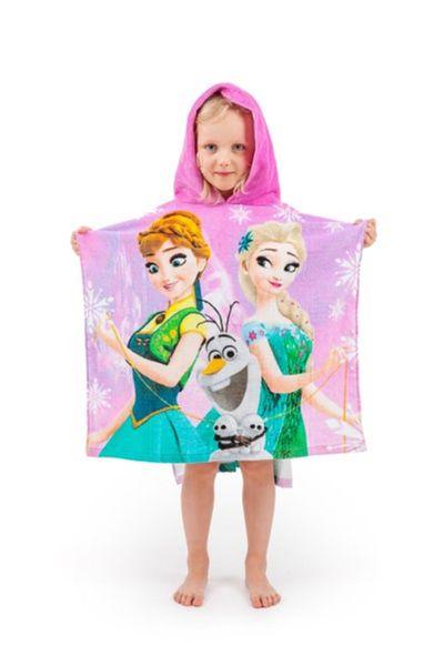 Disney Frozen Kinder Badeponcho Kapuze Duschtuch Badetuch Strandtuch