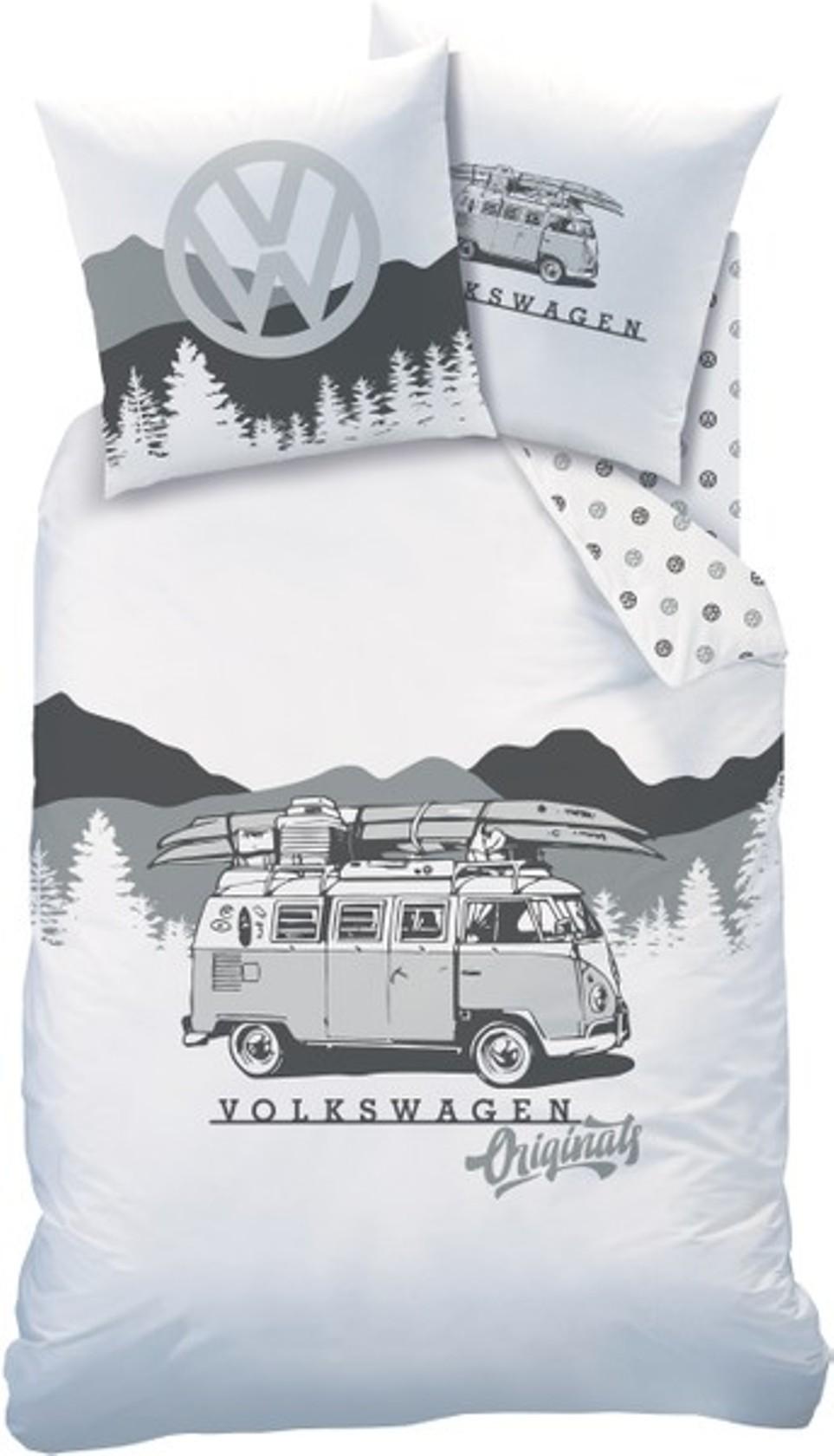 vw bus bettw sche volkswagen bulli 135 x 200 80 x 80 cm. Black Bedroom Furniture Sets. Home Design Ideas