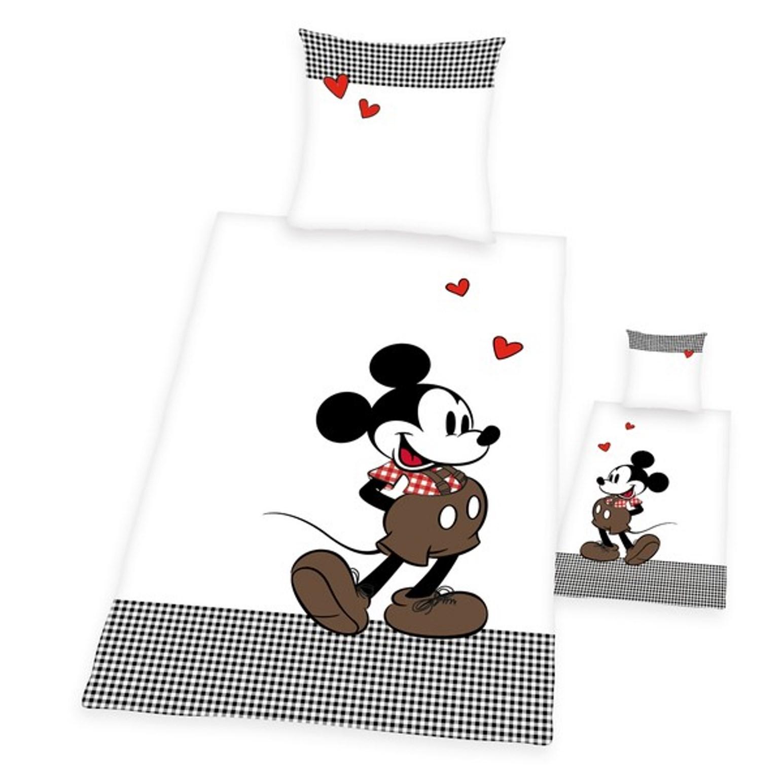 Möbel Wohnen 80 X 80 Cm Bettwäsche Minnie Mouse Weiß Rot 135 X 200 Cm