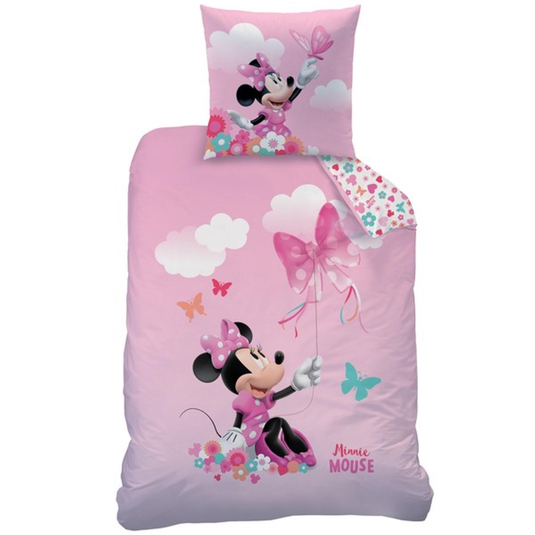 biber bettw sche disney minnie mouse 80 x 80 cm 135 x 200 cm flanell ebay. Black Bedroom Furniture Sets. Home Design Ideas