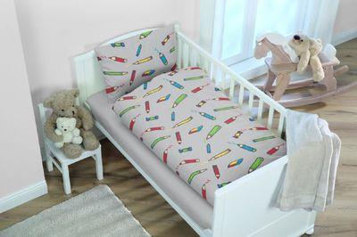 Baby Bettwäsche  Buntstifte 100 x 135 cm 100% Baumwolle