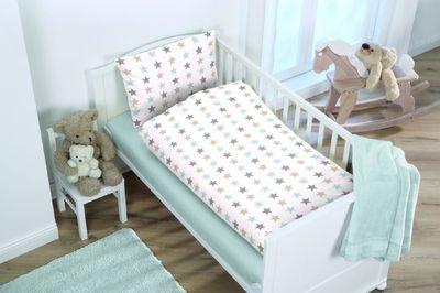 Baby Bettwäsche mit Sterne 100 x 135 cm 100% Baumwolle
