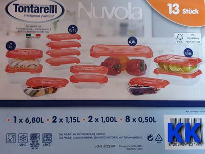 Frischhaltedosen Set 13-teilig Vorratsdosen Tontarelli  rot
