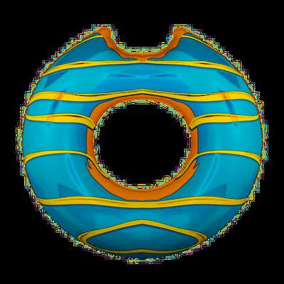 Aufblasbarer Schwimmring  Donut ca. 119 cm Durchmesser blau