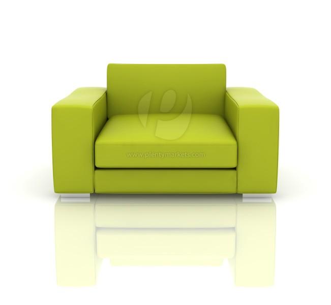 Moderner Ledersessel »Seattle« grün