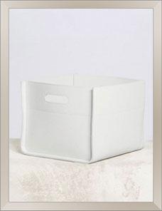 DELTA | Basket rectangular, Sattelleder