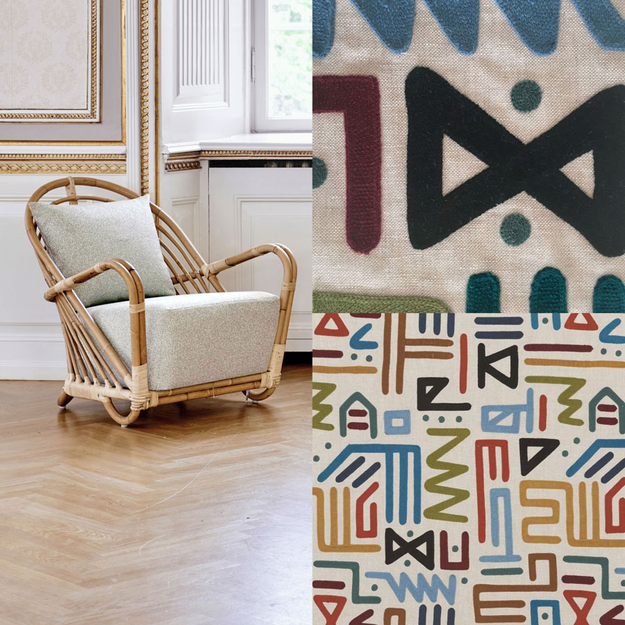 ICONS | Charlottenborg Sessel, Bezugsstoff Mulberry Home