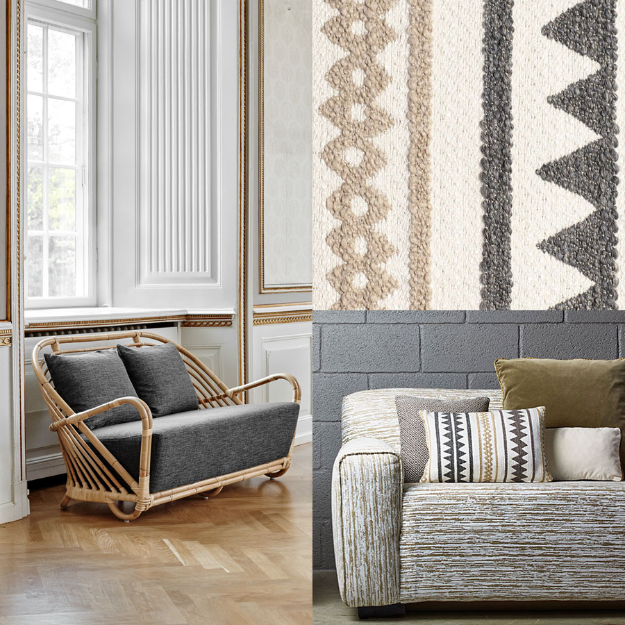 ICONS | Charlottenborg Sofa, Bezugsstoff James Malone