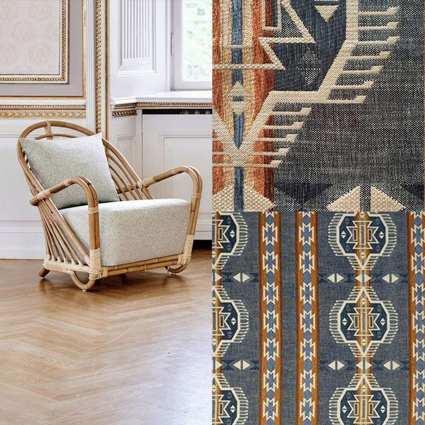 ICONS | Charlottenborg Sessel, Bezugsstoff Kravet – Bild $_i