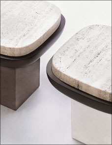 OLYMPIA | Stool Square Marble