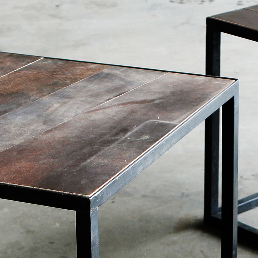 SIDE TABLE | Leather