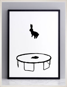 HAM ILLUSTRATION | Bouncing Rabbit