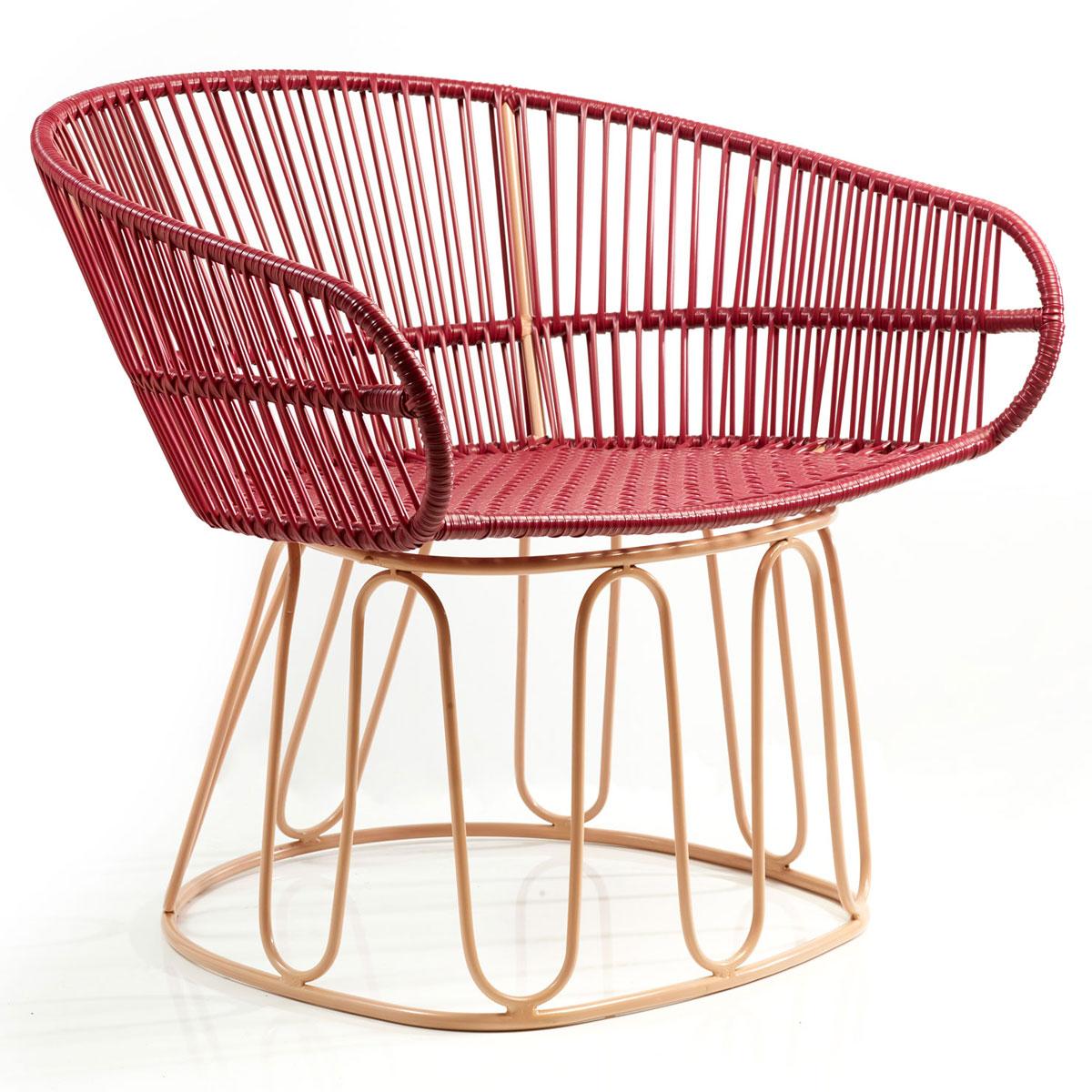 AMES CIRCO | Lounge Stuhl – purpur, carne