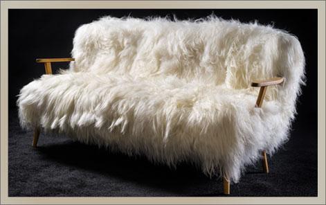 ALPINA | Sofa Island Schaffell weiß