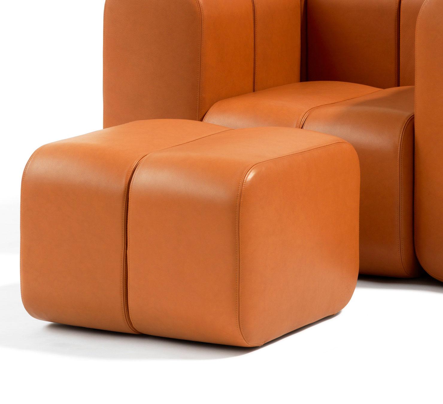 BOB |Pouf, Leather