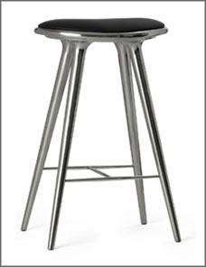 STOOL HIGH | Aluminium recycled 74 cm