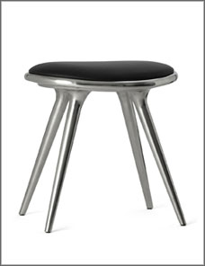 STOOL LOW | Aluminium recycled 47 cm