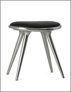 STOOL LOW | Aluminium recycled 47 cm