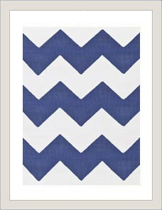 CHEVRON | Denim, Teppich In- Outdoor