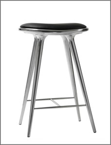 STOOL HIGH | Aluminium recycled 69 cm 001