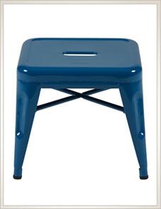TABOURET H 30   Indoor glossy, bleu océan
